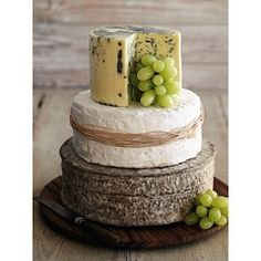 Delight guests with a (literal) cheese cake. | Community Post: 30 Swoon-Worthy Engagement Party Ideas