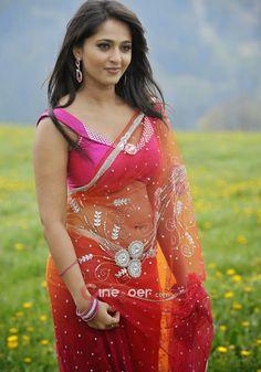 Anushka Shetty : http://www.atozpictures.com/anushka-blue-saree-pictures