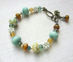 Gorgeous lampwork bead bracelet from Di Keeble x