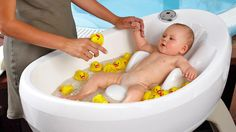I keep forgetting how tough these kids have it now a days.  Of course a Baby Jacuzzi is practical if not down right essential.
