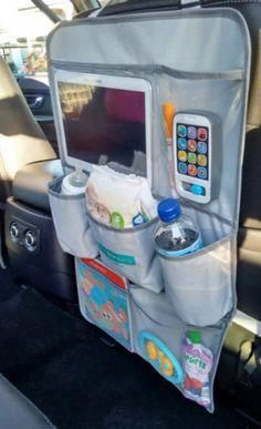 to Clean Car Upholstery? Car Back Seat Organizer & Seat Protector (Black or Gray) Baby Kind, Baby Love, Clean Car Seats, Seat Protector, Cleaning Materials, Back Seat, Baby Needs, Baby Hacks, Travel With Kids