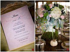 Pink menu card