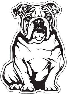 Bulldog Drawing, Art Deco Borders, French Bulldog Art, Pyrography Patterns, Decoupage, Animal Graphic, Disney Dogs, Crazy Dog Lady, Silhouette Design