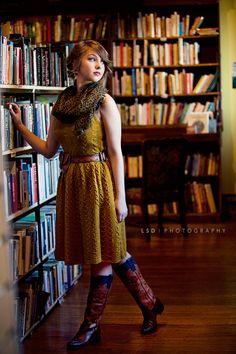 so cute bookstore shoot!!