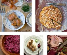 Swedish winters are notorious for bone-chilling winds and below-freezing temperatures. To counteract Mother Nature, Swedes have developed a wonderful feasting and drinking culture surrounding the holiday season. Warm up your own holiday with this traditional smorgasbord spread featuring dishes served in Swedish homes around the holidays, from a beet and herring salad to salmon gravlax, and even Julskinka (Christmas ham). Be sure to toast to good friends and family with a glass of aquavit…