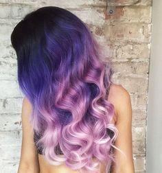 ombre hair color purple - Google Search
