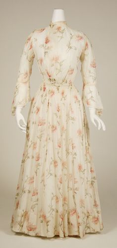 Afternoon Dress: ca. 1855-1903, American, cotton.