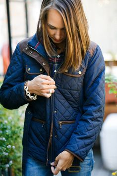 Quilted Zip Jacket: Fall Outfit Ideas — The Fox and She @johnstonmurphy @Stylelist #falloutfit