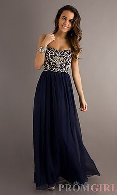 Bead Strapless Gown by Sean Collection . This will be my dress for prom .