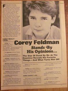 Corey Feldman, Full Page Vintage Clipping