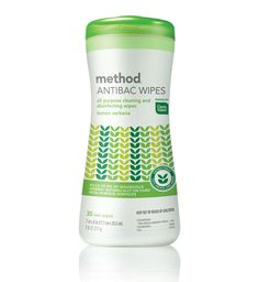 method : all-purpose cleaning and disinfecting wipes    These are great. I use them all the time for quick cleaning and/or disinfecting. They are natural and reasonably priced.