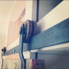 A do-it-yourself door track hardware blog tutorial.