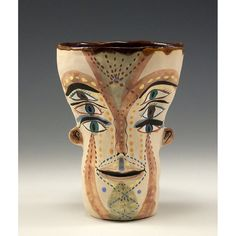 Ceramic Two Faces Cup by jennymendes on Etsy $135.00