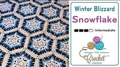 How to Crochet an Afghan: Dusty Snowflake Afghan - YouTube