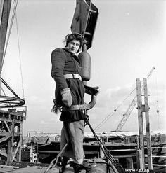 Rosina Vanier, 16-year-old female worker employed in the Pictou shipyard, Nova Scotia, January 1943.