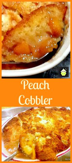 Peach Cobbler - This works fantastic with any of your favorite fruits! A really pleasing dessert best served warm with a blob of your favorite ice cream! Sorbets, Great Desserts, Delicious Desserts, Fruit Recipes, Baking Recipes, Sweet Recipes, Dessert Recipes, Dessert Dishes, Fresh Peach Cobbler