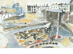Arthur Giardelli (1911) 'Tenby Harbour 1956' 38 x 57cm
