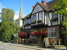 Photo of Pretty pub in the village of Eynsford, Kent, by Mike Matthews - Pictures of England Royalty Free Stock Photos