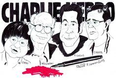 Stars Portraits - Portrait de Cabu, Wolinski Georges, Tignous, Charb ...