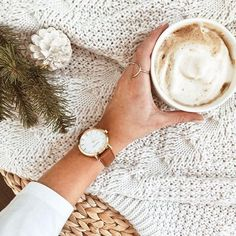 Modern round gold watch with a sustainable textured camel leather band that was meticulously crafted from surplus scrap leather that would have otherwise gone to waste. Gold Watch, Camel, Band, The Originals, Leather, Accessories, Collection, Fashion, Moda