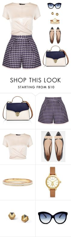 """""""Off to Work"""" by crystal-castleberry ❤ liked on Polyvore featuring Aspinal of London, Mother of Pearl, New Look, Daisy Street, Vita Fede, Tory Burch, Wolf & Moon and Italia Independent"""