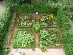 Bauerngarten von oben - Bilder und Fotos