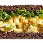 Sweet Southern Egg Salad Crunchy celery, gherkin pickles and sweet onion flavor this Southern-style egg salad recipe. Serve on pumpernickel toast or a bed of lettuce. Calories - 132 Carbohydrates - 6g Fat - 7g Protein - 11g Sodium - 396mg Dietary Fiber - 0g