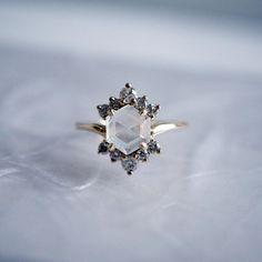 Moonstone Rosie Diamond Ring #JewelryRings