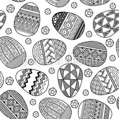 Zentangle Easter Eggs - Design with ornate easter eggs.