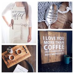 I. LOVE. Coffee. – Simply Lovely Handmade I Love Coffee, Coffee Shop, Coffee Lovers, Wedding Reception Signs, Love You More Than, Inspirational Gifts, Cocoa, Business Products, My Love