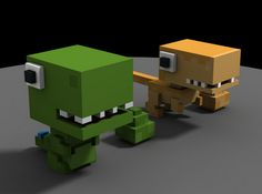 @SunraHeadgear here's some block dinos for you :)