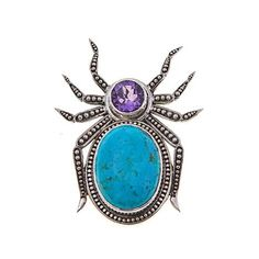 Shop Nicky Butler 1.45ctw Turquoise and African Amethyst Sterling Silver