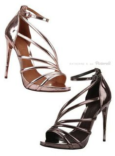 Beautiful Heels in Metallic Rose Gold and Bronze