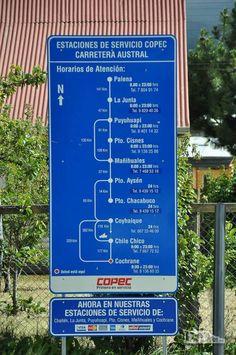Informação importante: horário de funcionamento e localização dos postos de combustível ao longo da Carretera Austral, no sul do Chile