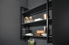 Power Kitchen in Carbon by Rotpunkt from Hubble Kitchens & Interiors