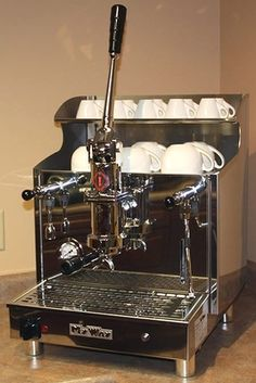 For Sale: Gruppo Izzo My Way Pompei Spring Lever Espresso Machine - 1 or 2 Group Espresso Machine Reviews, Espresso Coffee Machine, Cappuccino Machine, Espresso Maker, Cappuccino Coffee, Coffee Blog, Coffee Cafe, Coffee Equipment, Kitchen Equipment