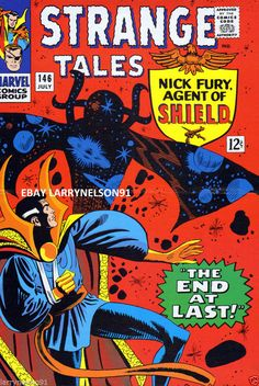 STEVE DITKO STRANGE TALES 146 MARVEL COMIC BOOK POSTER NICK FURY AGENT OF SHIELD