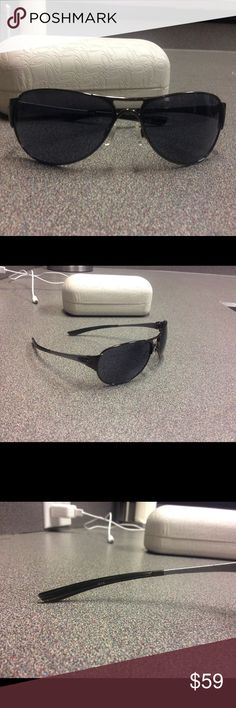 Oakley Aviators Very well taken care of but ready for a new home. Gun metal/silver gray in color. All numbers are in pics. No scratches either. Oakley Accessories Sunglasses