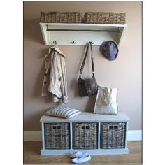 Tetbury Hallway Storage Bench and Shelf from magnolia lane Good for the utility room?!