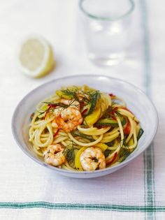 Prawn & Courgette Spaghetti   Pasta Recipes   Jamie Oliver