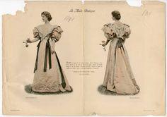 "1893-1894, Plate 162. Fashion plates, 1700-1955. The Costume Institute Fashion Plates. The Metropolitan Museum of Art, New York. Gift of Woodman Thompson (b17520939) | ""La Mode Pratique,"" from 1894. #fashion"