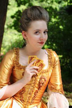 Marie Antoinette inspired 1780s dress