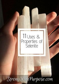 Learn about the uses and properties of selenite. 11 Uses & Properties of Selenite. Selenite is a protective stone. Meditating with selenite can help you enhance your spiritual practices. Crystal Uses, Crystal Magic, Crystal Healing Stones, Crystal Grid, Healing Rocks, Crystal Shop, Crystals Minerals, Crystals And Gemstones, Gems And Minerals