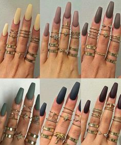 Matte Squoval Acrylic Nails
