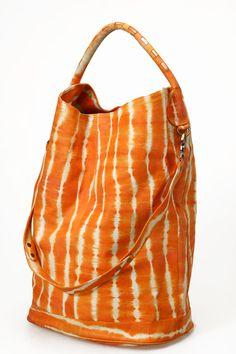 Large Leather Bag  Tangerine Orange Lamb Leather by BlessingBecca, $145.00