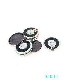 Home Audio Stereos, Components 8Pcs 45Mm 8 Ohm 1W Metal Shell External Magnetic Speaker Loudspeaker Silver Tone #ebay #Electronics