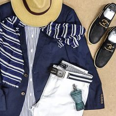"""""""Master the blue print trend this summer. #WCollection #WoolworthsMen #woolies #jpg #gaultier #menswear #summer #trend"""""""