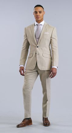 As the architect of your own design, choose from hundreds of incredible fabrics that reflect who you are. Mens Clothing Styles, Clothing Items, Tan Suit Wedding, Fashion Suits, Mens Fashion, Suit Shop, Man Style, Mens Suits, Blazer Suit