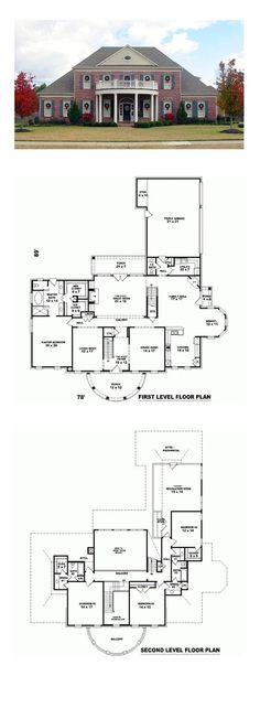 Plantation House Plan 47330 | Total Living Area: 4113 sq. ft., 4 bedrooms and 3.5 bathrooms. #plantationhome