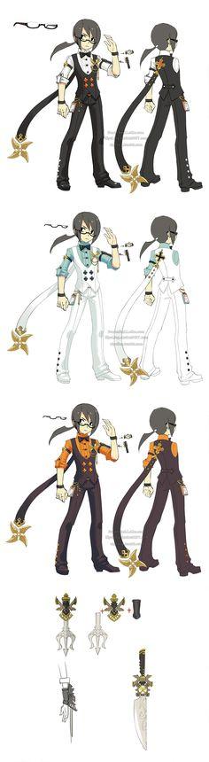 Dragon Nest restaurant costume assassin by ZiyoLing
